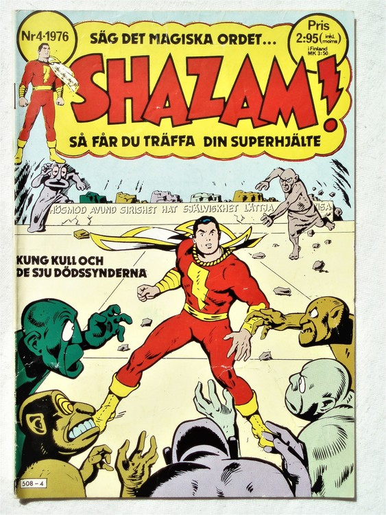 Shazam nr 4 1976  normalsliten,normalskick
