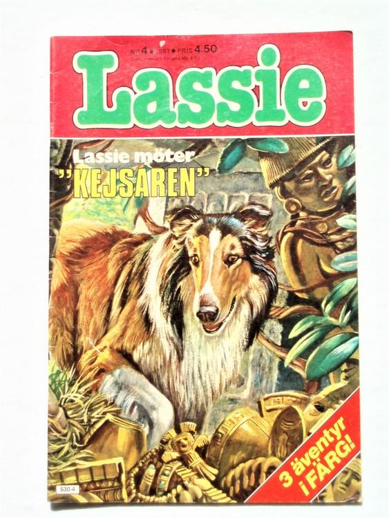 Lassie nr 4 1981 färg bättre skick.
