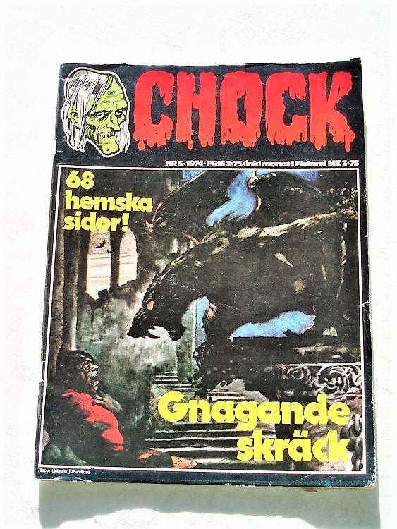Chock nr 5 1974 svart vit,bättre skick