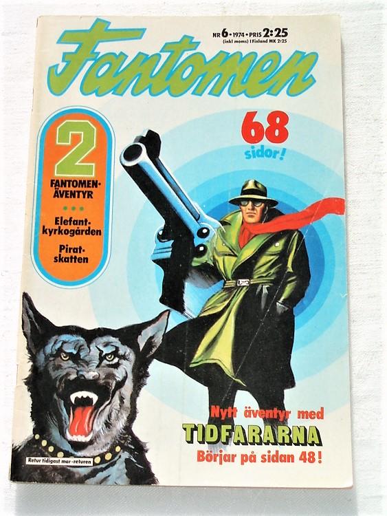 Fantomen nr 6 1974 bra skick rygg lite sliten 68 sidor.