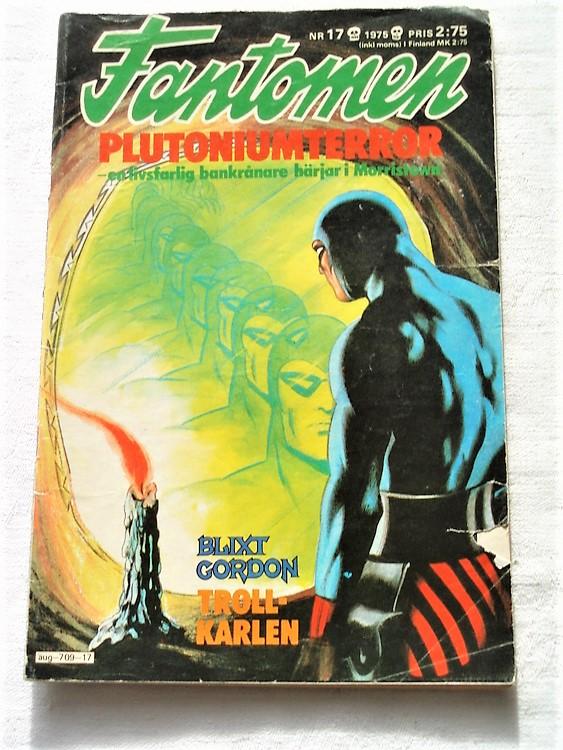 Fantomen nr 17 1975 bra skick rygg lite sliten