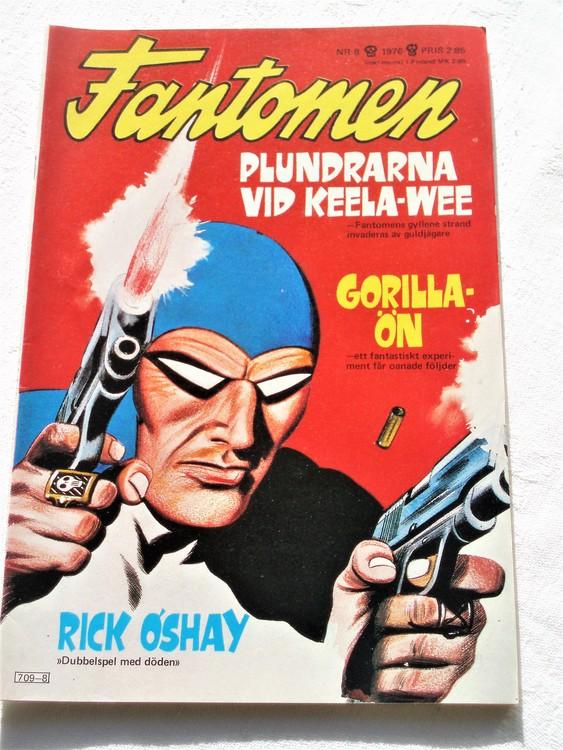 Fantomen nr 8 1976 mycket bra skick ny oläst