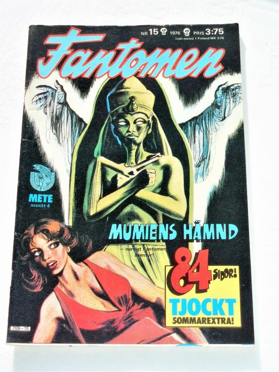 Fantomen nr 15 1976 mycket bra skick ny oläst