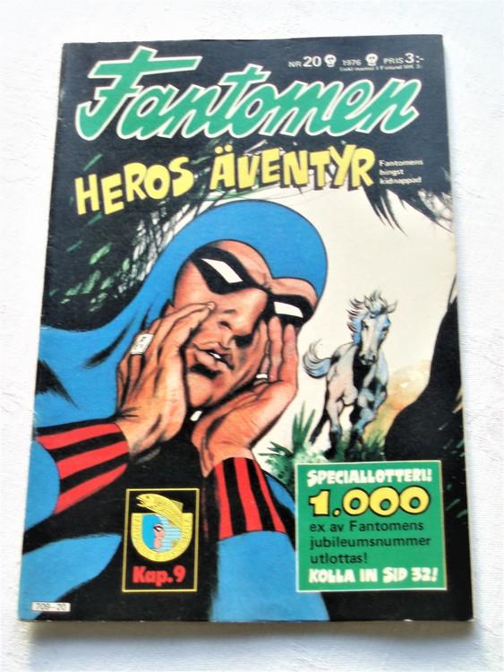 Fantomen nr 20 1976 mycket bra skick ny oläst
