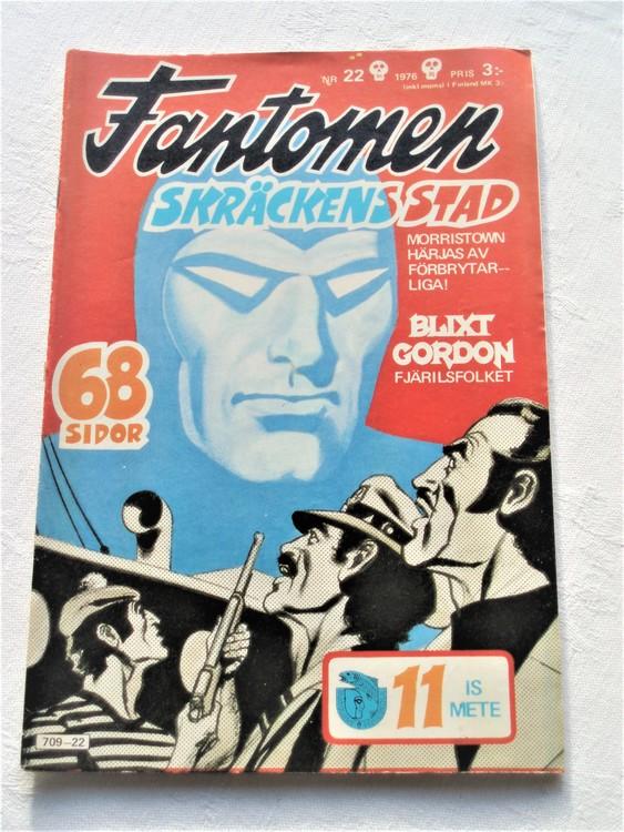Fantomen nr 22 1976 mycket bra skick ny oläst