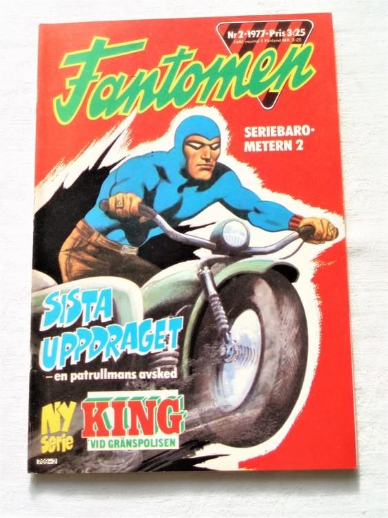 Fantomen nr 2 1977  mycket bra skick ny oläst