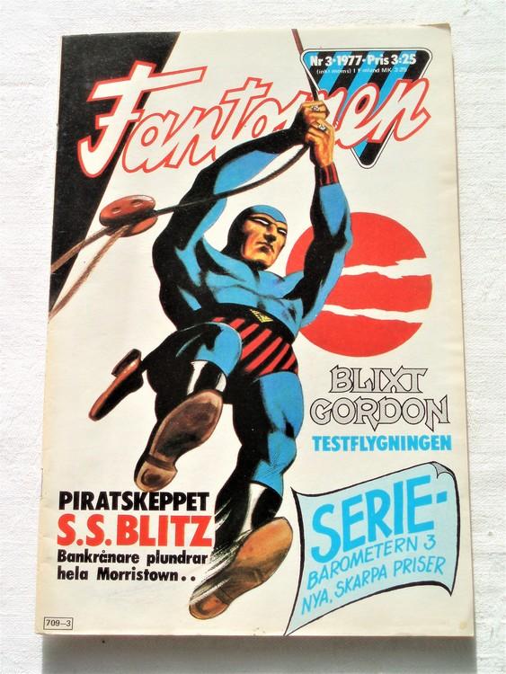 Fantomen nr 3 1977  mycket bra skick ny oläst