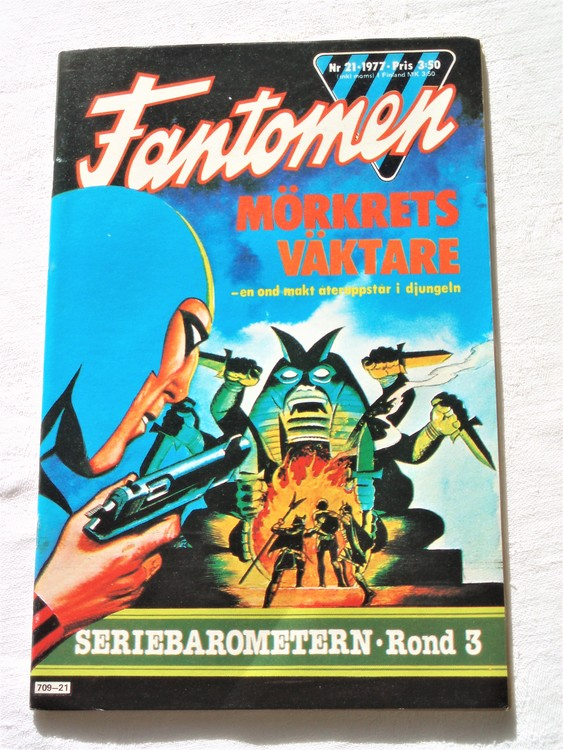 Fantomen nr 21,1977  mycket bra skick ny oläst