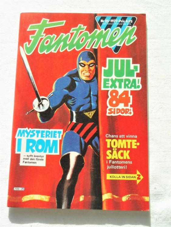 Fantomen nr 25 1977 mycket bra skick ny oläst 84 sidor
