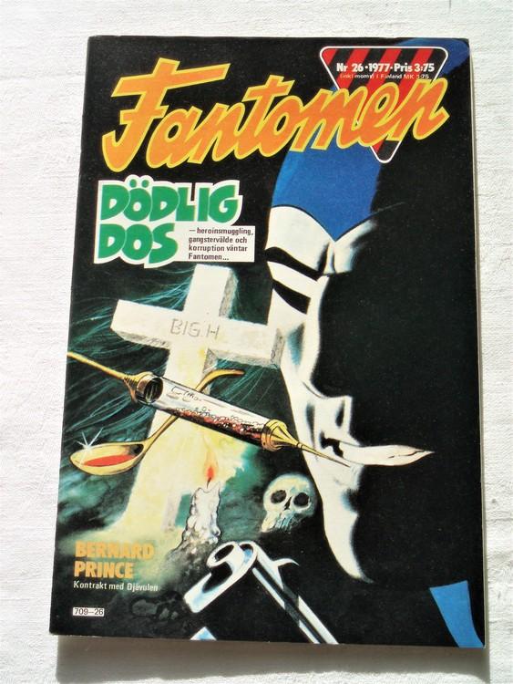Fantomen nr 26 1977 mycket bra skick ny oläst