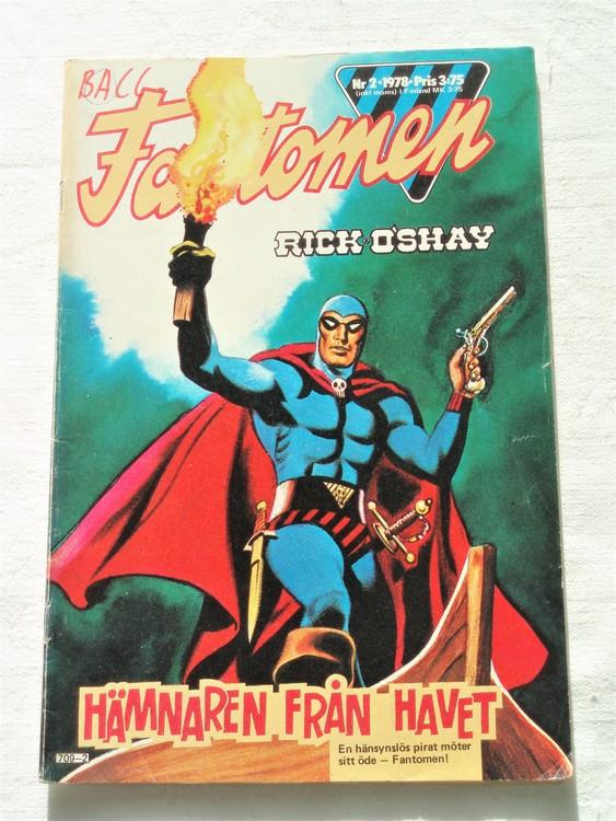 Fantomen nr 2 1978 bra skick första sidan tusch