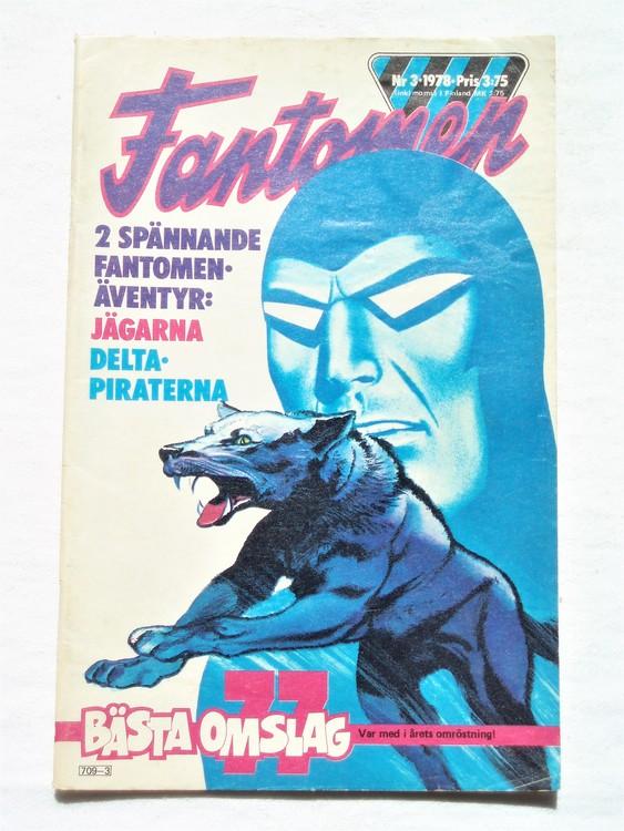 Fantomen nr 3 1978 bättre skick,korsord ifyllt.