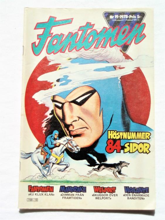 Fantomen nr 19 1978,84 sidor,bättre skick