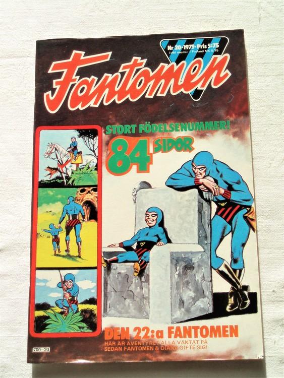 Fantomen nr 20 1979 mycket bra skick ny oläst 84 sidor