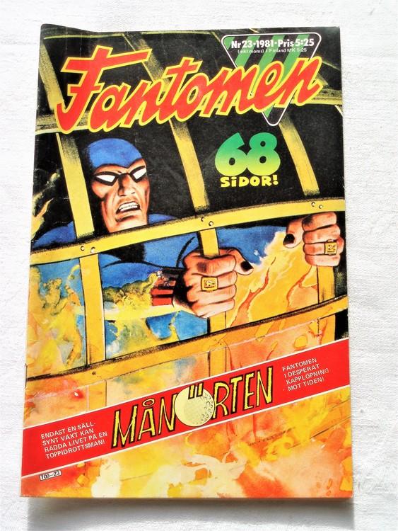 Fantomen nr 23 1981 bra skick 68 sidor