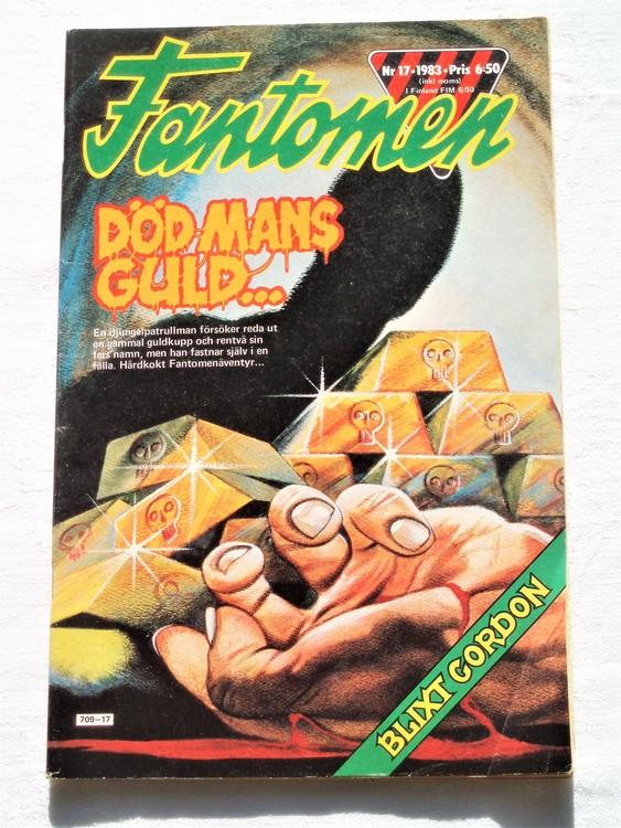 Fantomen nr 17 1983 bättre skick,veck första sidan.