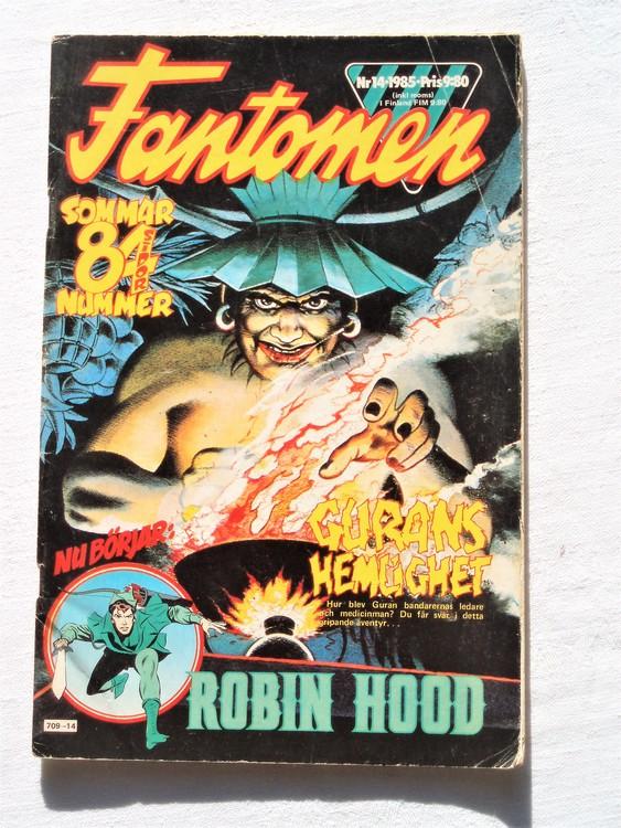 Fantomen nr 14 1985 bra skick 84 sidor veck första sidan.