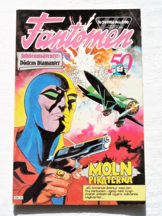 Fantomen nr 24 1986 bra skick, veck på första sidan.