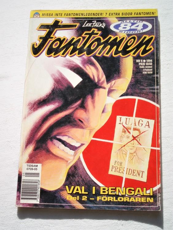 Fantomen nr 5 1994 bättre skick, 84 sidor