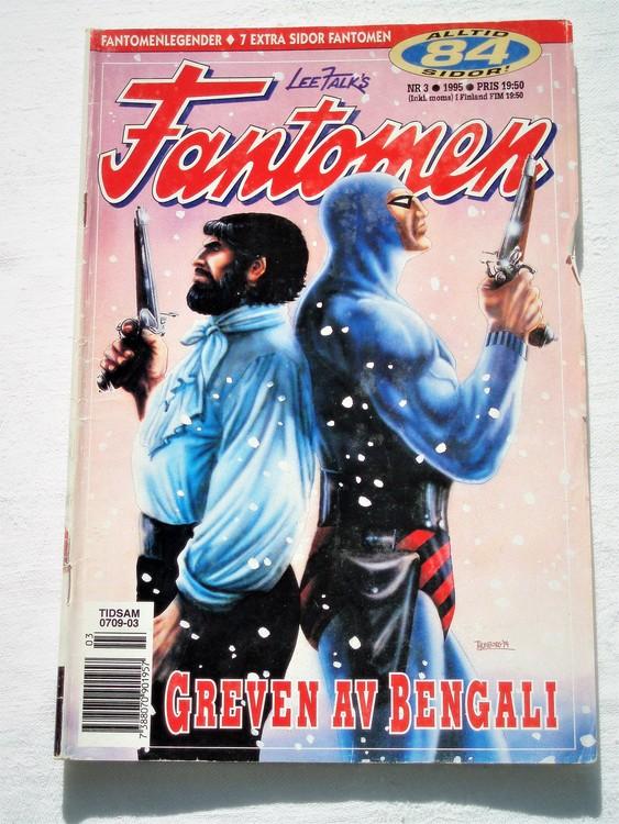 Fantomen nr 3 1995 bättre skick, 84 sidor