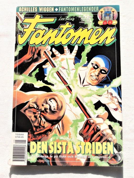 Fantomen nr 25 1996 bättre skick, lite sönder rygg nere