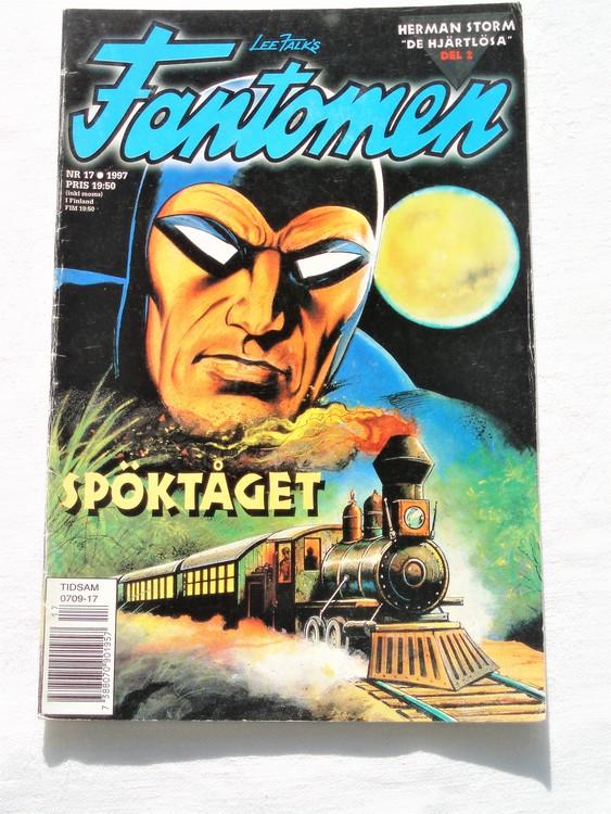 Fantomen nr 17 1997 bättre skick, veck första sidan