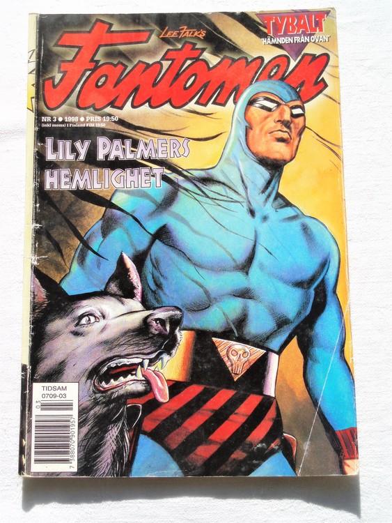Fantomen nr 3 1998 bättre skick veck första sidan