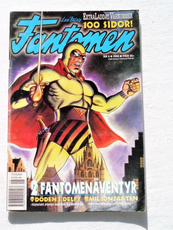 Fantomen nr 6 1998 bättre skick,100 sidor
