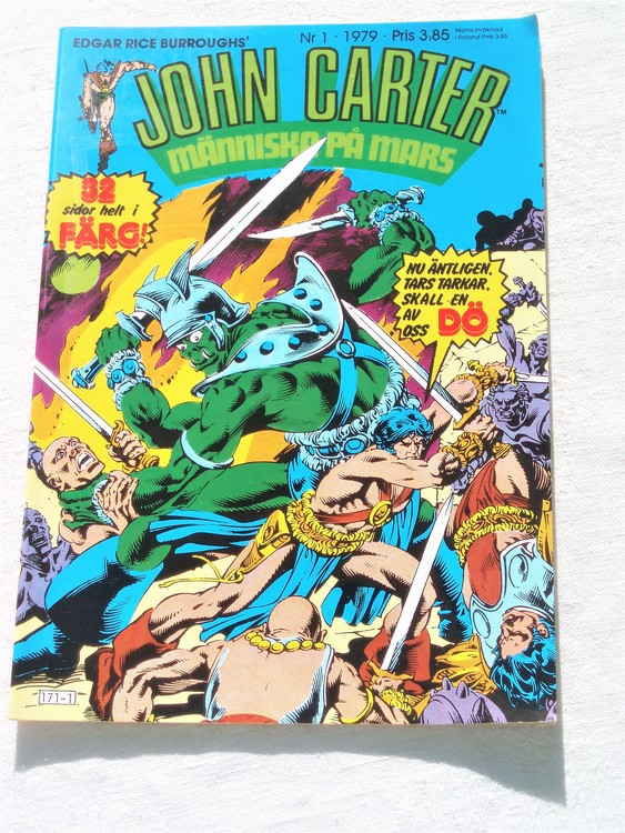 John Carter nr 1 1979 mycket bra skick ny oläst