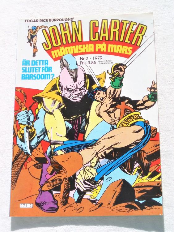 John Carter nr 2 1979 mycket bra skick ny oläst