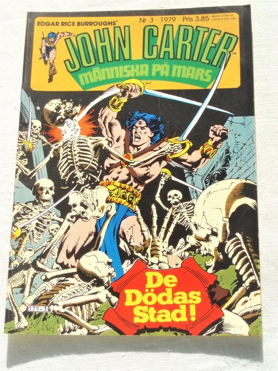 John Carter nr 3 1979 mycket bra skick ny oläst