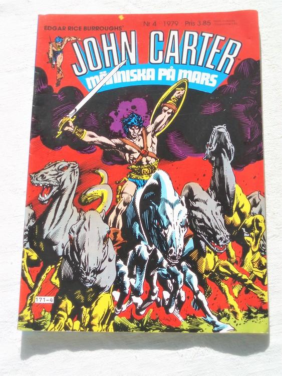 John Carter nr 4 1979 mycket bra skick ny oläst