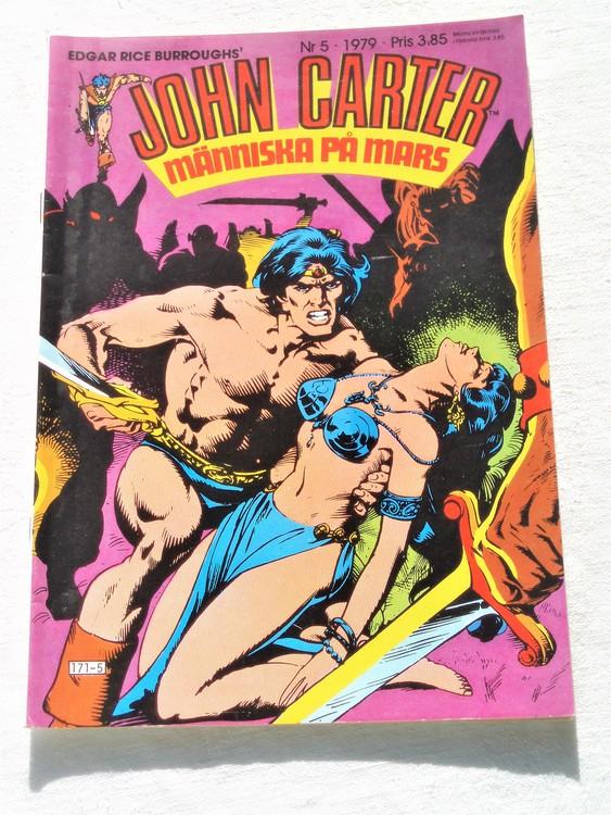John Carter nr 5 1979 mycket bra skick ny oläst