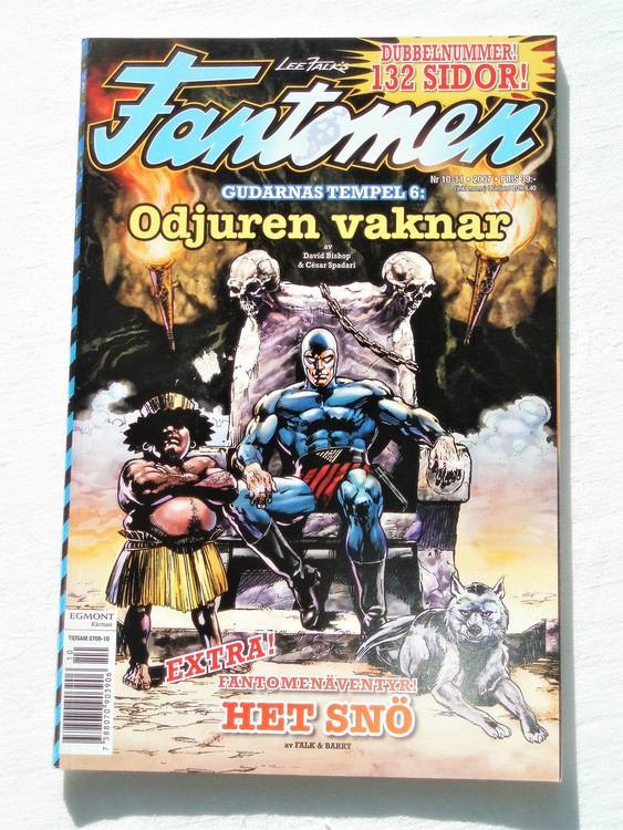 Fantomen nr 10-11 2007 bättre skick,dubbelnummer 132 sidor