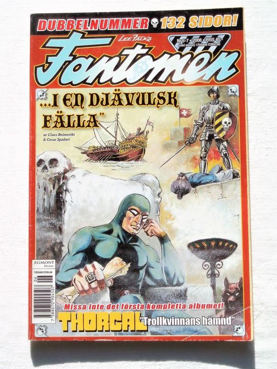 Fantomen nr 6-7 2008 bättre skick,dubbelnummer 132 sidor.
