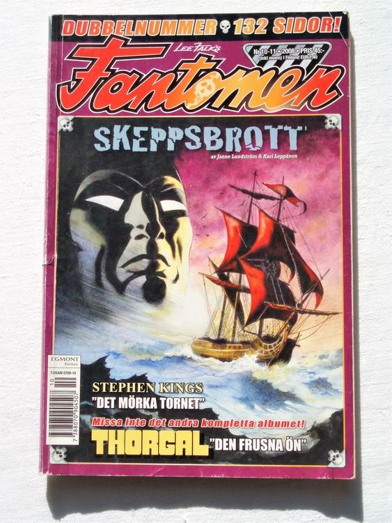 Fantomen nr 10-11 2008 bättre skick dubbelnummer 132 sidor