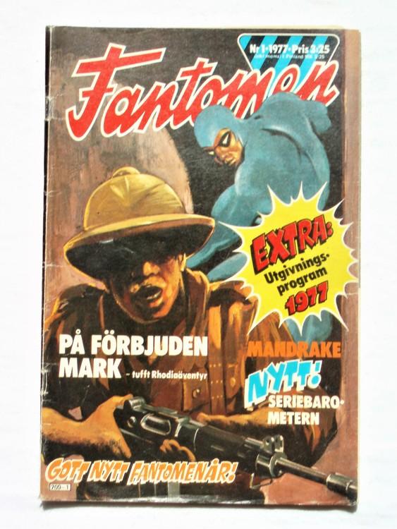Fantomen nr 1 1977  mycket bra skick ny oläst