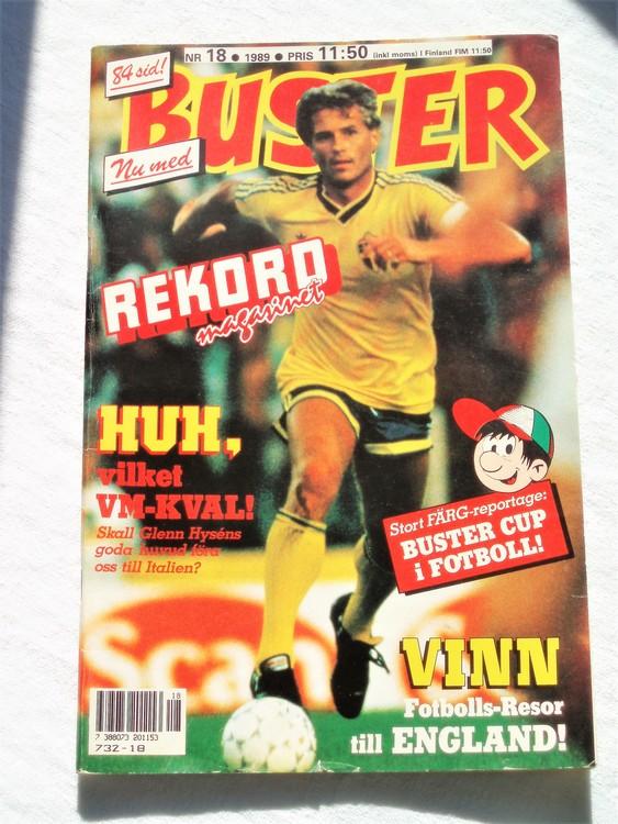 Buster nr 18 1989 Semic bättre skick normalsliten lite skönhetsfel