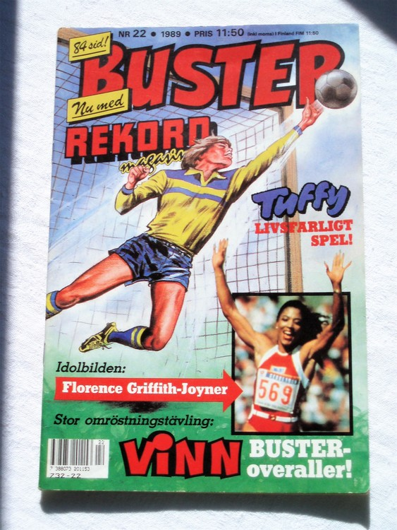 Buster nr 22 1989 Semic bättre skick normalsliten lite skönhetsfel