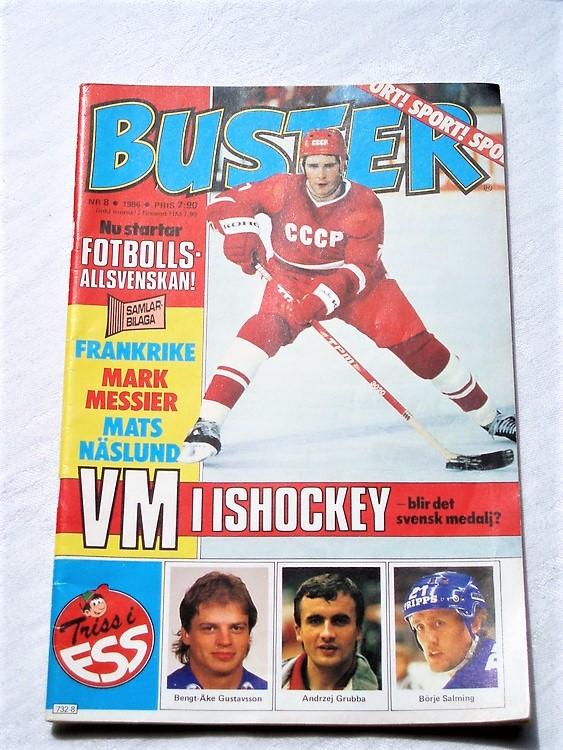 Buster nr 8 1986 mycket bra skick normalsliten samlar exemplar