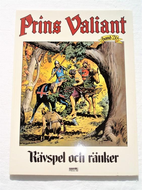"""Prins Valiant""""Rävspel och ränker""""Band 26,1984 mycket bra skick,ny oläst"""