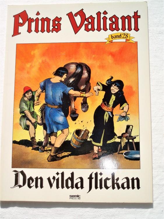 """Prins Valiant""""Den vilda Flickan""""Band 28,1985 mycket bra skick,ny oläst"""