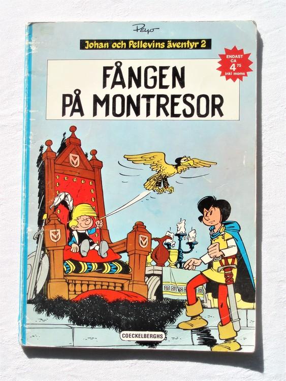 """Johan och Pellevin""""Fången på Montresor""""1:a upplagan 1973,sämre skick"""