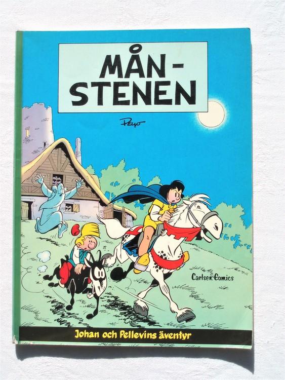 """Johan och Pellevin""""Månstenen""""1:a upplagan 1980,bättre skick"""
