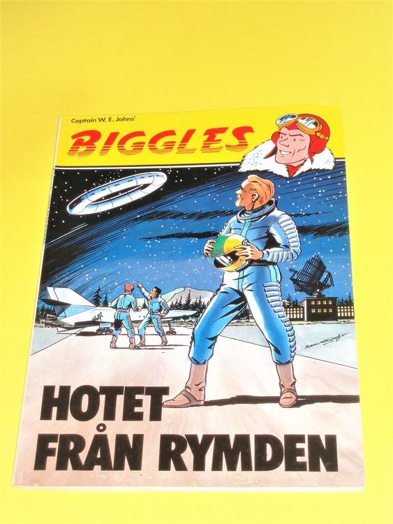 """Biggles """"Hotet från Rymden""""normalslitet,normalskick, bättre skick"""