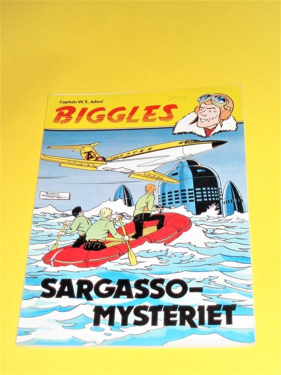 """Biggles """"Sargasso Mysteriet"""" normalslitet,normalskick,namn första sidan"""