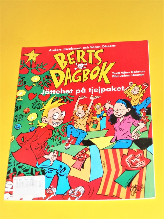 "Berts Dagbok ""Jättehet på tjejpaket""1994 Semic Press,grundskick VF"
