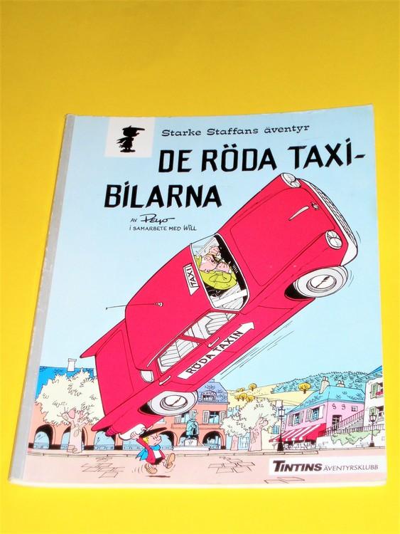 """Starke Staffans Äventyr""""   De röda taxibilarna""""  normalslitet,normalskick"""