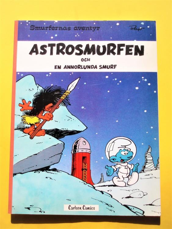 "SmurfernasÄventyr""Astro smurfen"" M perfekt,nyskick 1977 Carlsen comics"