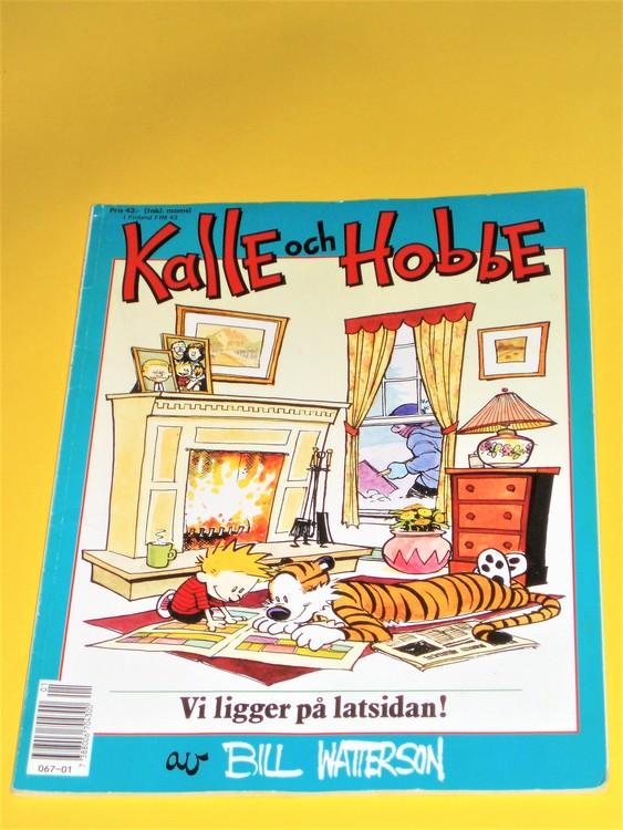 """Kalle och Hobbe """"Vi ligger på latsidan""""normalslitet,normalskick"""